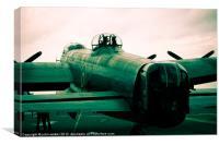 Lancaster Bomber Parked, Canvas Print