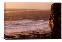 Beautiful Sunset at Nash Point, Vale of Glamorgan, Canvas Print