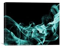 Smoking the blues away, Canvas Print