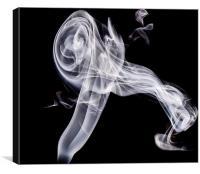 Jet Engine smoke stream, Canvas Print