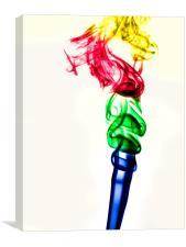 Coloured smoke plume, Canvas Print