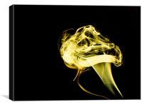 Yellow Smoke Mushroom, Canvas Print