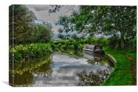 narrowboat oxford canal, Canvas Print