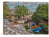 magdalen bridge, boat house, Canvas Print