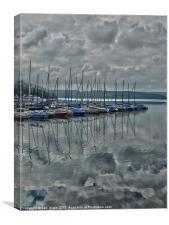 mohne lake, Canvas Print