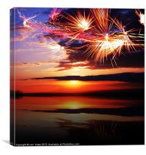 sundown lake, Canvas Print