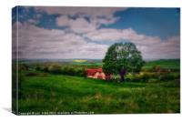 the painted barn, Canvas Print