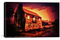 the boat house, Canvas Print
