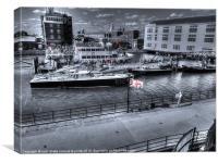harbour boats, Canvas Print