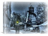 winter comes to st giles, Canvas Print