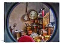 behind the clock face, Canvas Print