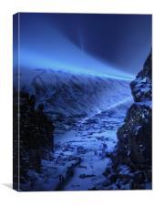 early evevning walk iceland, Canvas Print