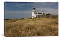 Caldey Island Lighthouse, Canvas Print