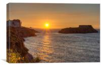 Sunrise over Tenby, Canvas Print