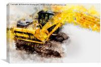 JCB JS130 360 Excavator, Canvas Print