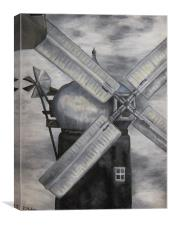 Ellis Windmill, Lincoln, Canvas Print