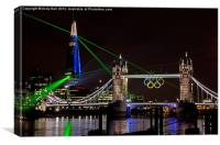 Laser Show near Tower Bridge, Canvas Print