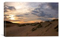 Sunset over Holkham, Canvas Print