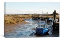 Awaiting the tide at Thornham, Canvas Print