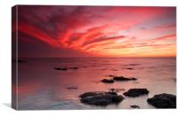 Red Sky at Night Hunstanton, Canvas Print