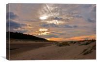 Sun Setting over Holkham, Canvas Print
