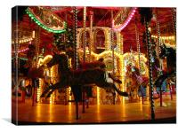 Funfair Edinburgh at Christmas, Canvas Print