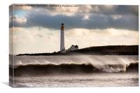 East Coast Lighthouse in Scotland, Canvas Print