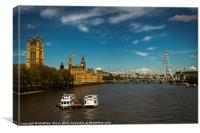 Thames scene from Lambeth Bridge, Canvas Print