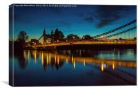 Hammersmith Bridge at night, Canvas Print