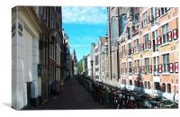 July Bikes in Amsterdam, Canvas Print