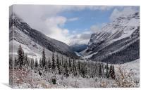 Snowy Valley,Canada, Canvas Print