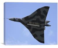 Avro Vulcan Bomber Plane Flying, Canvas Print