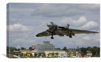 Avro Vulcan Bomber Plane Landing, Canvas Print