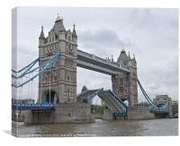 Tower Bridge London Opening, Canvas Print