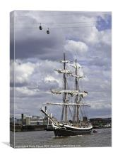 Morgenster Tall Ship In London, Canvas Print