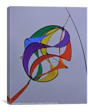Colourful kite in the sky, Canvas Print
