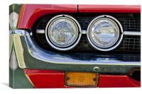 Car Headlamps, Canvas Print