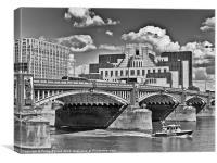 MI6 Building at Vauxhall London, Canvas Print