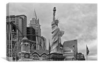 New York Las Vegas USA, Canvas Print