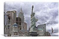 Las Vegas New York Style, Canvas Print