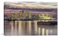Docklands London Dome Sunset, Canvas Print
