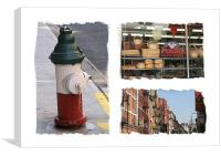 New York Little Italy USA, Canvas Print