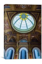 Domed Ceiling Building, Canvas Print