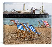 English Seaside - Brighton Beach, Canvas Print