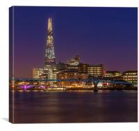 Millenium Bridge and The Shard, Canvas Print