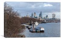 London Skyline from Waterloo Bridge, Canvas Print