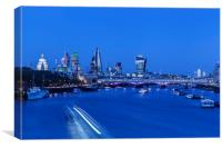 Night View of City of London, Canvas Print