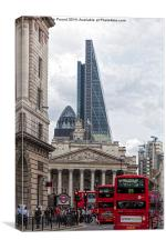 Rush hour in the City of London, Canvas Print