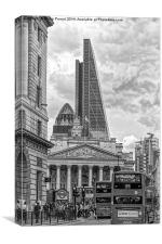 The Rush Hour in the City of London, Canvas Print