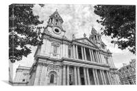 Front facade of St Paul's Cathedral in London, Canvas Print